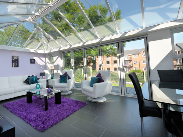 Modern Glass Roof Conservatory