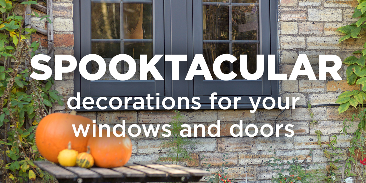 Spooktacular decorations for your windows and doors