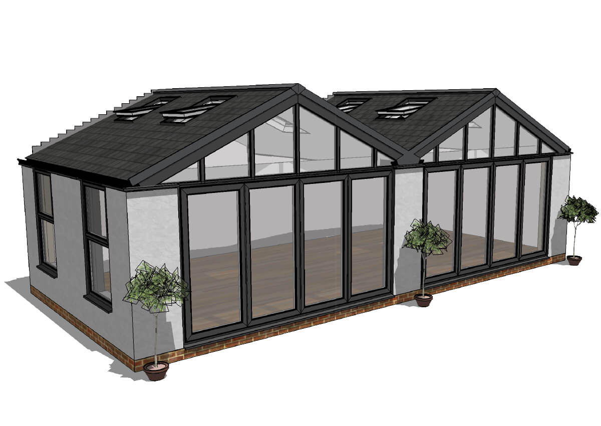Tiled Roof Conservatory Living Space