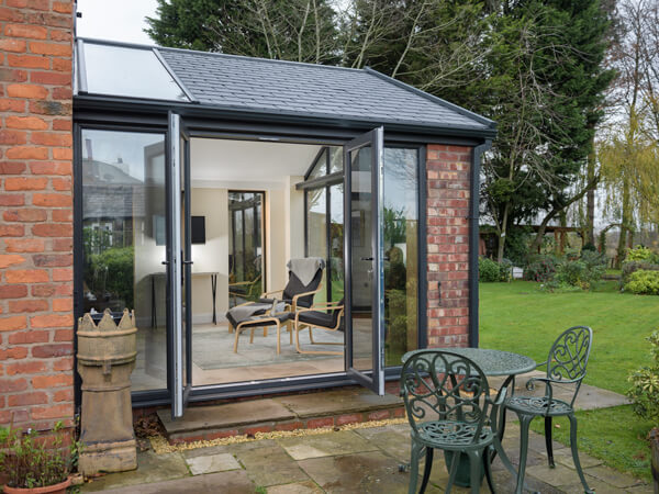 Tiled Roof Extension with French Doors