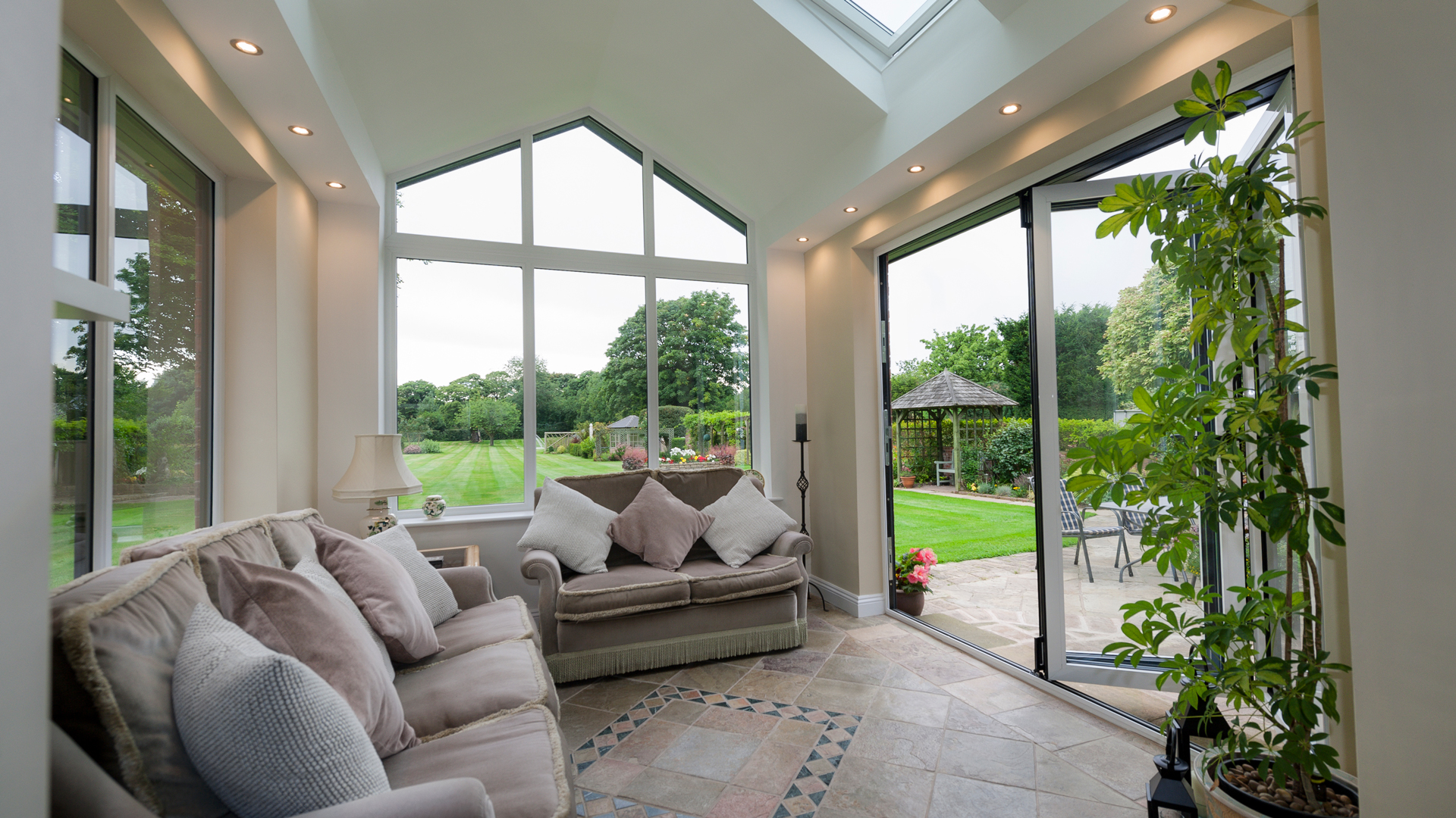 Tiled Roof Extension with Bi-Folds